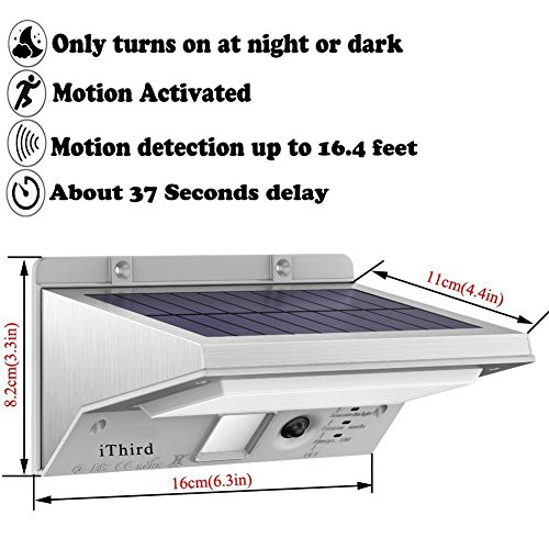 Solar Lights Outdoor Motion Sensor Ithird 21 Led 330lm
