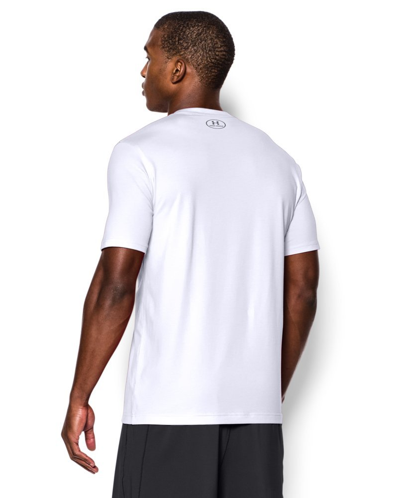 Under Armour Men's Charged Cotton Left Chest Lockup T-Shirt, White /Graphite, XXX-Large by Under Armour (Image #2)