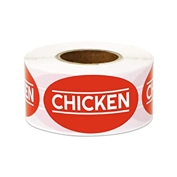 Amazon 300 Labels Chicken Stickers For Meat Markets