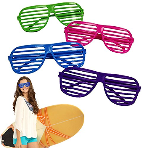 Dazzling Toys 80's 80's Slotted Toy Sunglasses Party Favors Costume - Pack of 24 - Assorted Colors