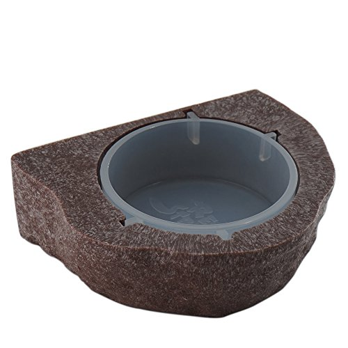 51jTYQeF%2BTL - Reptile Bowl Gecko Ledge Magnetic Gecko Feeder Small-Bown