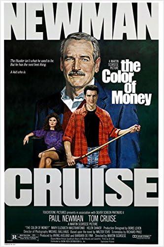 El COLOR de una dinero Póster de la película vintage PAUL NEWMAN y ...