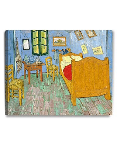 DECORARTS - Bedroom in Arles (Third Version), Vincent Van Gogh Art Reproduction. Giclee Canvas Prints Wall Art for Home Decor 30x24 (Arles Canvas)