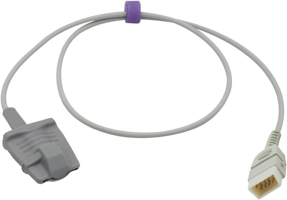Compatible for Nonin 8000AA Spo2 Sensor Adult Finger Soft 3.2 ft 7 Pins Connector