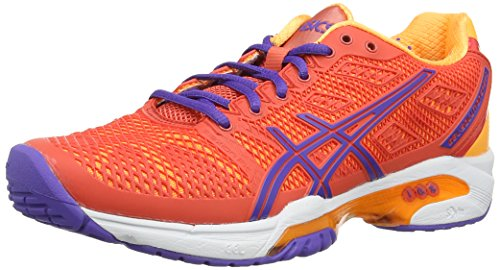 asics Gel-Solution Speed 2 - Zapatillas de tenis de sintético para mujer Naranja - Orange (Hot Coral/Lavender/Nectarine 633)