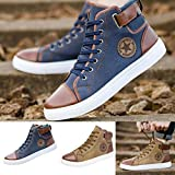 Haoricu_ Hot Sales Athletic Shoes Men Women Couple Shoes Causal Lace-Up Ankle Boots Sneakers Casual High Top Canvas Shoes (37~47)