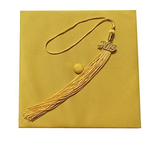 Matte Adult Unisex Graduation Cap With Tassel 2016 2017 Year Charm Grad Days Gold ()