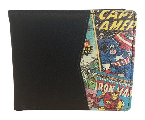 BB Designs Marvel Retro Comic Red Bi-Fold Wallet with Printed Details (Purse Detail)