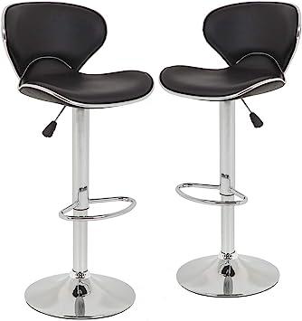 Amazon.com: Bar Stools Counter Height Adjustable Bar Chairs ...