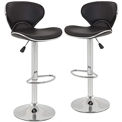 Amazon Com Bar Stools Counter Height Adjustable Bar Chairs With