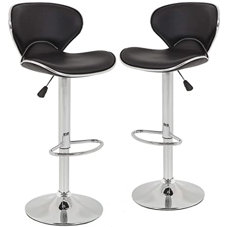 Amazon.com: Bar Stools Counter Height Adjustable Bar Chairs ...