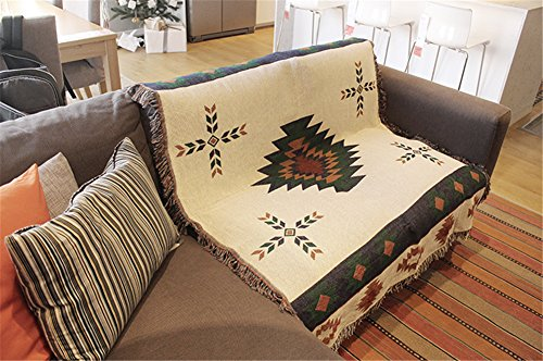 FanMo Tapestry Afghans Wall Hangings Sofa Blanket Aztec Navajo Aztec Ethnic Tribal Rug