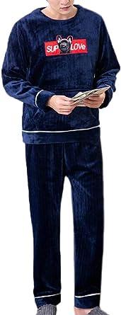 Hombre Invierno Coral Fleece Pijamas Mujer Set Ropa para El ...