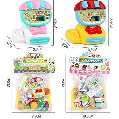Gfones Kids Durable Cash Register Toy Simulation Toy Set Role Play Pretend Toy Set Washing Machines: Home & Kitchen