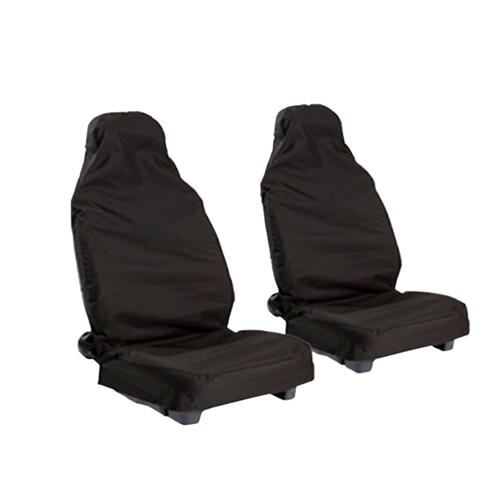 Dreamtop 1 Pair of Universal Car Seat Covers Heavy Duty Front Seat Protectors Fit for Most Cars SUV Trucks Black