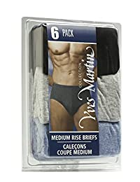 COLLECTION YVES MARTIN | Men's Briefs - Medium Rise / 6 Pack