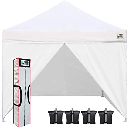 Amazon.com  Eurmax 10 x 10 Pop up Canopy Commercial Tent Outdoor Party Shelter with 4 Zippered Sidewalls and Carry Bag Bonus Canopy Sand Bags(White) ...  sc 1 st  Amazon.com : pop up canopy replacement parts - afamca.org