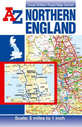 Read Online Northern England Road Map (A-Z Road Map) pdf