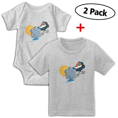 (Sunny Rainy and Rainbow Babys Boy's & Girl's Short Sleeve Bodysuit Baby Onesie and T-Shirt)