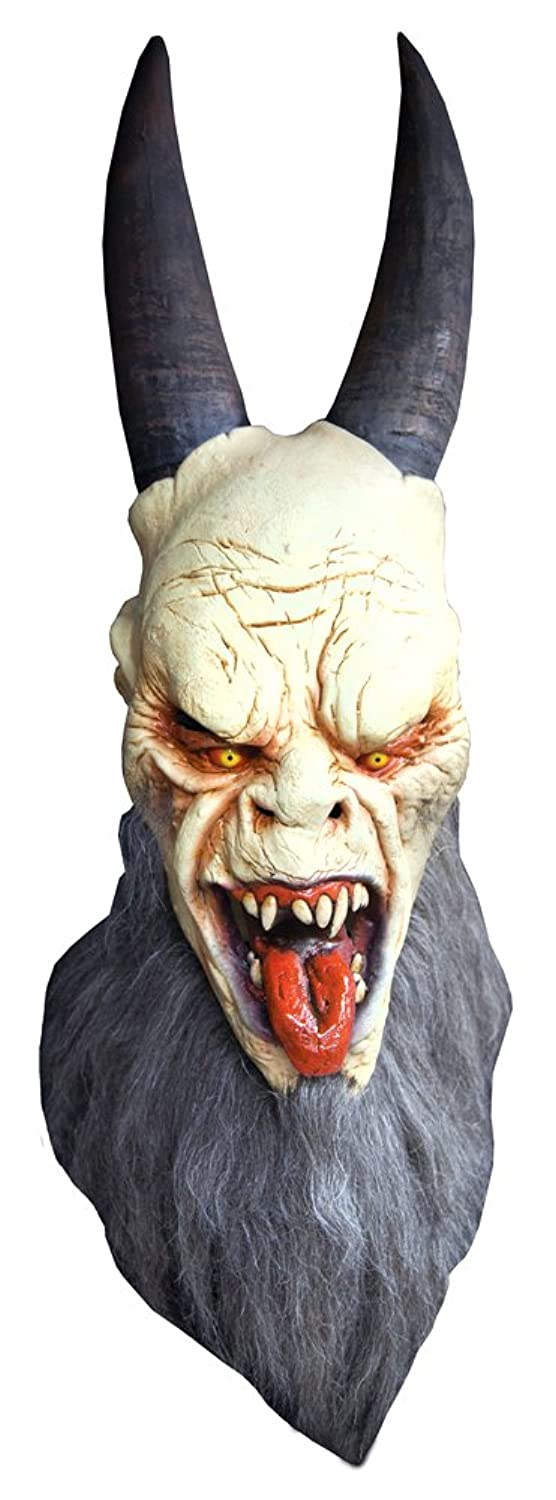 Amazon.com: Krampus Latex Mask - Anti-santa Claus Christmas Scary ...