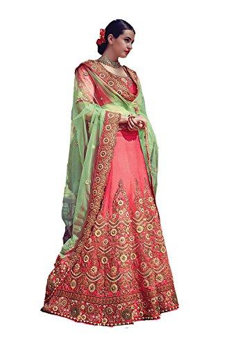 Da Facioun Womens Pink Color Striking Lehenga Choli With Crystals Stones Work 79629