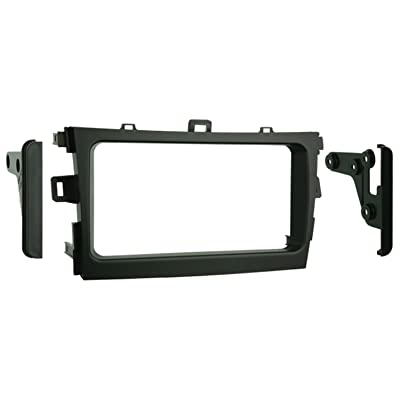 Metra 95-8223S Double DIN Installation Kit for 2009-up Toyota Corolla Vehicles (Black): Car Electronics