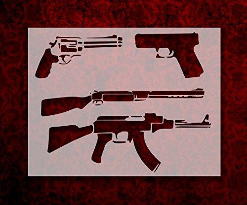 Gun Pistol Rifle AK-47 Shotgun 11