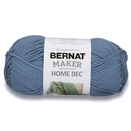 Bernat  Maker Home Dec Yarn - (5) Bulky Chunky Gauge - 8.8 oz - Steel Blue - For Crochet, Knitting & Crafting by Bernat