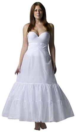 David\'s Bridal Plus Size A-Line Medium Fullness 2-Tier Slip Style ...