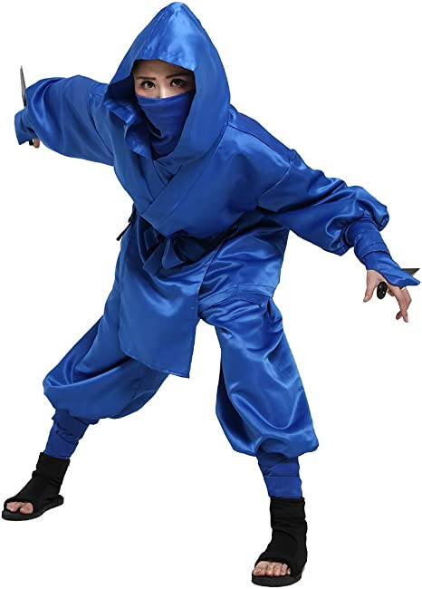 Cosplay.fm Mens Blue Ninja Costume Outfit Uniform