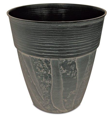 Listo Avino Tall Zebra Planter, 15-Inch, Oxidized Black ()
