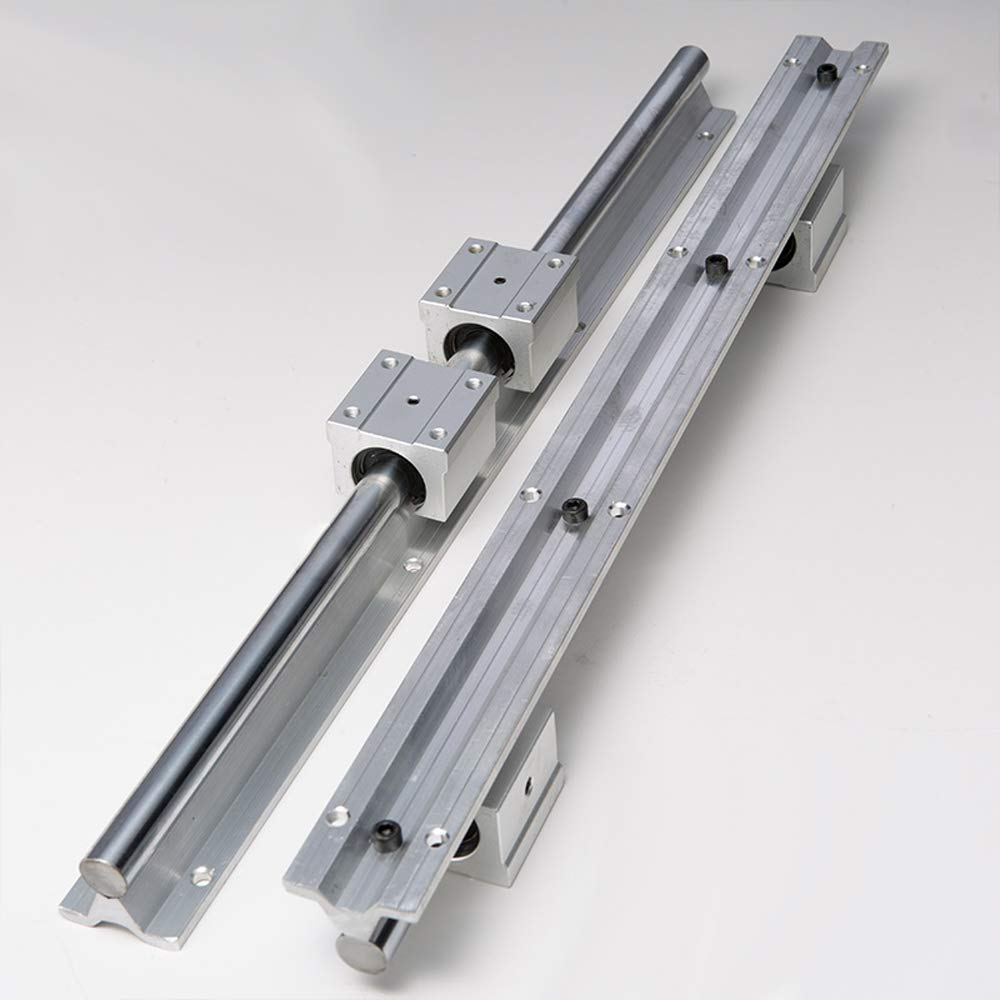 2Pcs SBR12-600mm Linear rail Guide Shaft  with 4X SBR12UU US Stock