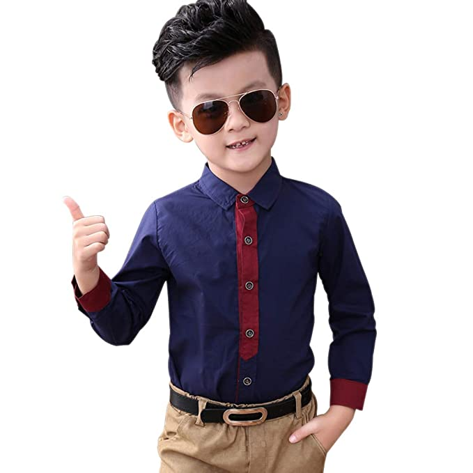 Amazon.com: BOZEVON Kids Boys Blazer Suit Fashion Tuxedo ...