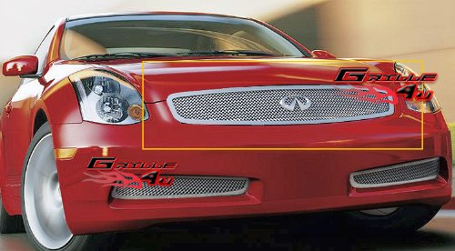 (APS Fits 03-07 Infiniti G35 Coupe Only Stainless Steel Mesh Grille Insert #N75602T)