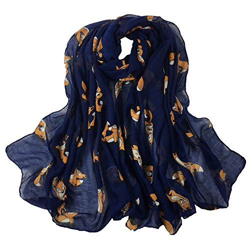 SuNiSER Women Scarf,Printing Long Soft Squirrel Solid Color Wrap Slik Shawl Scarves
