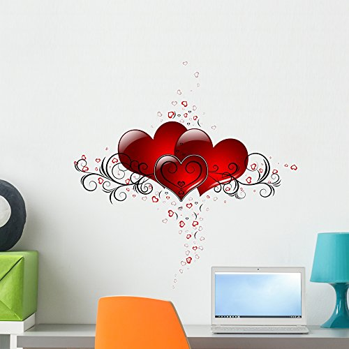 Valentines Day Hearts Design Wall Decal by Wallmonkeys Peel and Stick Graphic