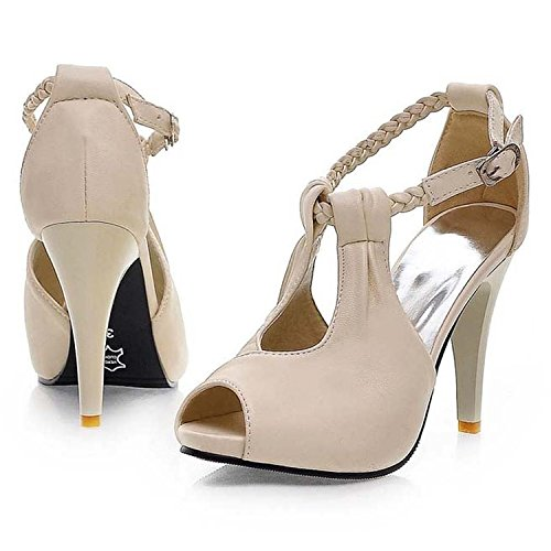 leanna-Womens-Chic-Sexy-High-Heel-Ankle-Wrap-Hasp-Plus-Size-4-105-PU-Leather-Work-Pumps-Open-Toe-Sandal