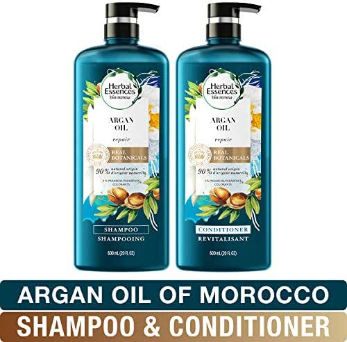 Herbal Essences Shampoo And Sulfate Free Conditioner Kit, Safe for Color Treated Hair, BioRenew Repairing Argan Oil Of Morocco, 1 Set