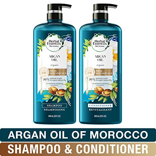 (Herbal Essences Shampoo And Sulfate Free Conditioner Kit, Safe for Color Treated Hair, BioRenew Repairing Argan Oil Of Morocco, 20 fl oz Kit )