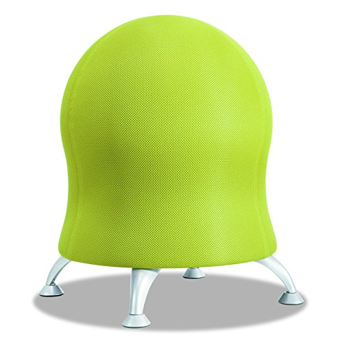 Safco Products Zenergy Ball Chair 4750GR, Grass, Low Profile, Active Seating, Steel Legs