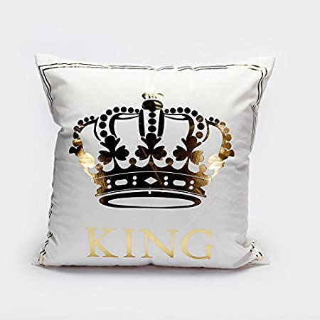MAYUAN40 Decorative Pillows Bronzing Cushion Cover Gold Printed Interesting King And Queen Decorative Pillows