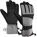 Andake Ski Gloves, 3M Thinsulate Waterproof TPU Membrane Men's Winter Gloves with Non-Slip PU Palms for skiing, snowboarding, riding, climbing and skating