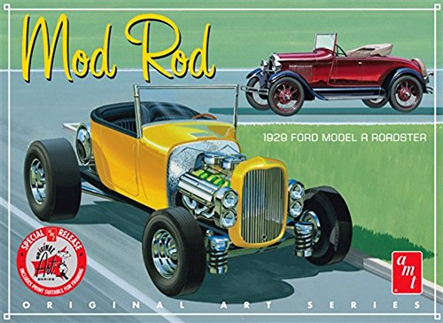 AMT AMT1000 1:25 Scale 1929 Ford A Roadster Mod Rod Original Art Series Model Kit from AMT