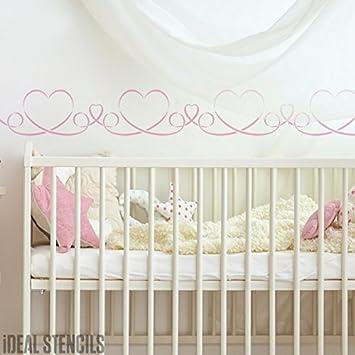 Band Herz Kinderzimmer Schablone Kinderzimmer Wand Malen