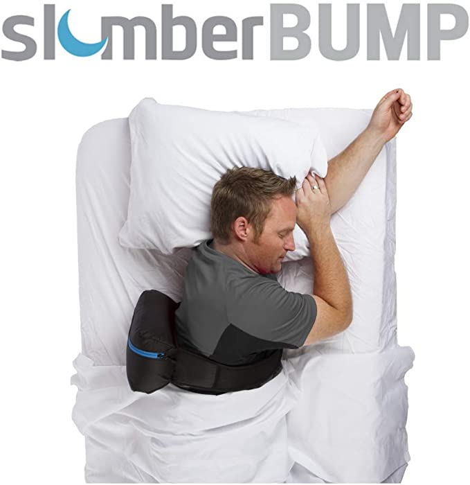 Amazon Com Slumberbump Positional Sleep Therapy Belt Designed For Long Term Snoring And Sleep Disordered Breathing Relief Train Yourself To Stop Snoring Featuring Improved Bladder Large Home Kitchen