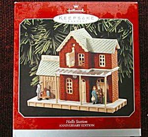 HALLMARK 1995 NOSTALGIC HOUSES AND SHOPS SET OF 3 ORNAMENTS
