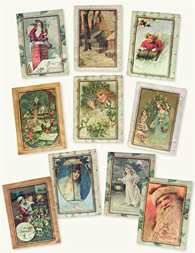 Victorian Trading Co. 10 Retro Christmas Fragrance Sachets Packets Nib
