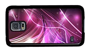 Hipster Samsung Galaxy S5 Cases cheap purple lines PC Black for Samsung S5