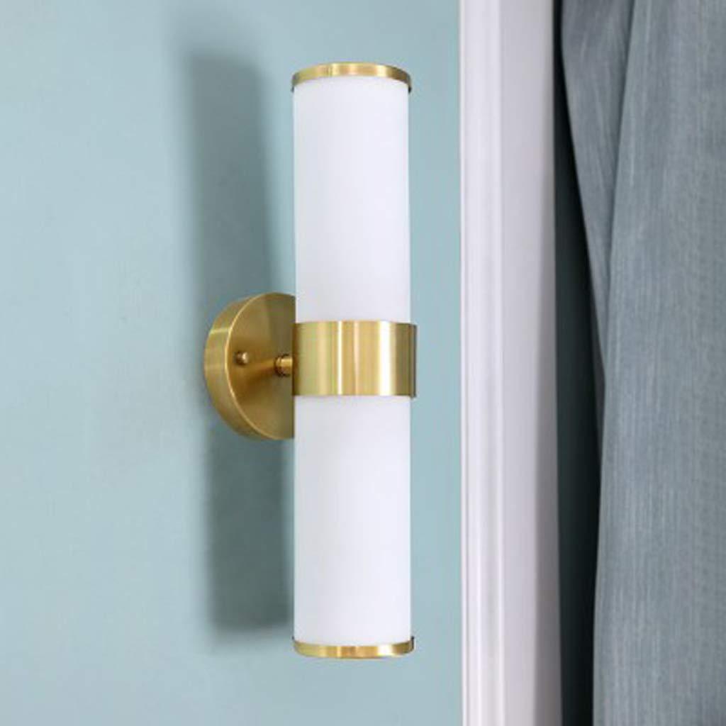 アメリカンカントリーウォールランプ、クラシック双頭牧歌的な銅リビングルーム美しい装飾ランプ、室内照明読書ランプ B07TMLQ9KK