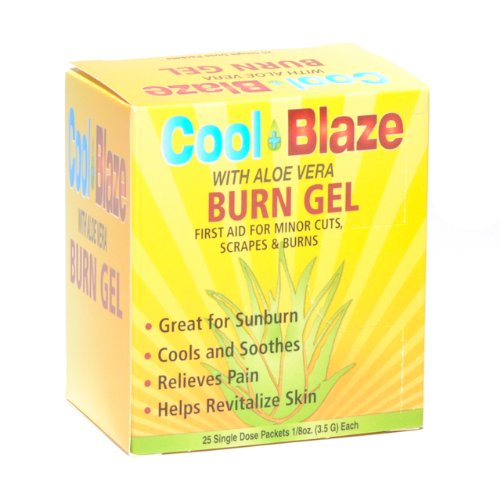 Cool Blaze With Aloe Vera Burn Gel 25 Packets per Box